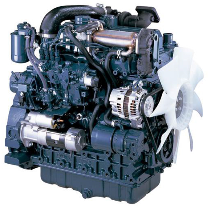 Specifications of Kubota diesel engines according to