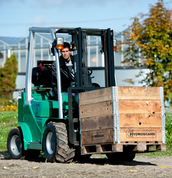 The forklift for gardeners and events