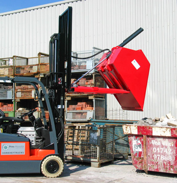 The forklift can be used multifunctionally